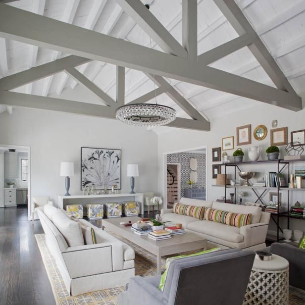 How To Build Airtight Insulated Cathedral Ceilings Vaulted Ceiling Living Room Transitional Living Rooms Family Friendly Living Room