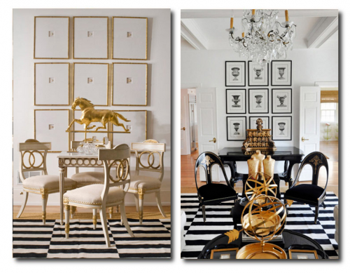 Regency Interior Design Painting Adorable Black And White Decorating Hollywood Regency Dramatic Interiors . Design Ideas