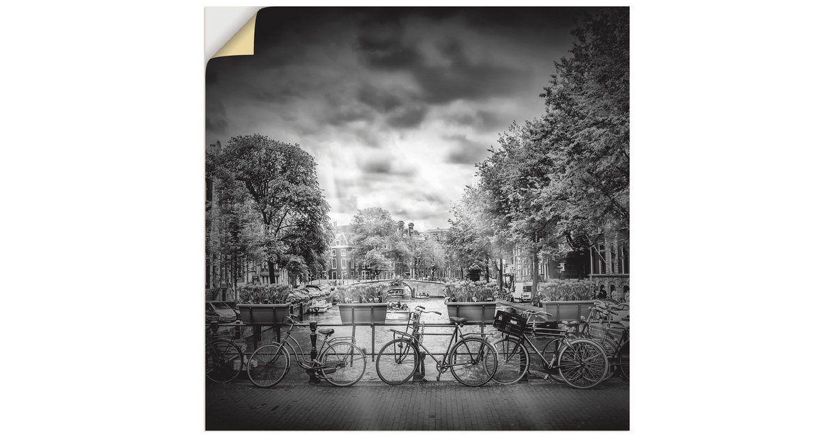 Photo of Wandfolie, Premium Wandfolie »Melanie Viola: AMSTERDAM Herengracht, Monochrom«