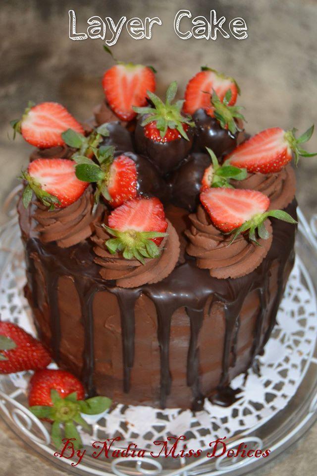 Très Layer cake chocolat-fraises ( gateau à étage ) | Recette | Étages  BO59