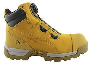 wolverine tarmac boa 6 inch sb mens steeltoe/disc safety