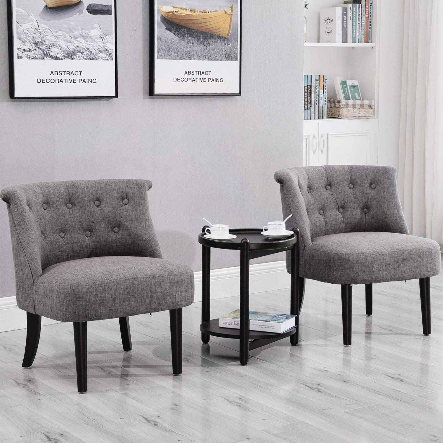 Amazon Com Merax Accent Chair With Button Tufts Loveseat Sofa