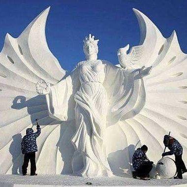 Ice sculpture, also art