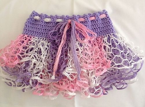 Child\'s Crochet Ruffle Skirt 9months - 5yrs pattern by Leanna Booth ...