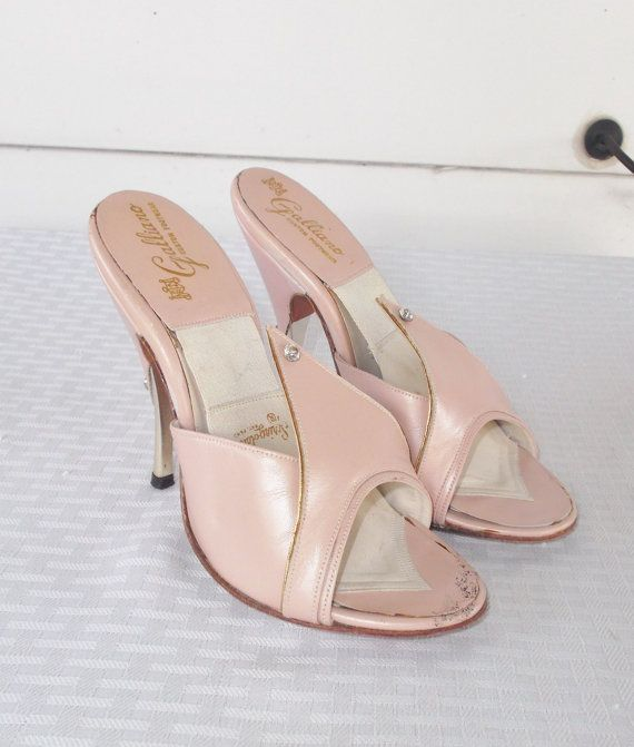 1950s Vintage Pink Springolators Shoes with by MyVintageHatShop