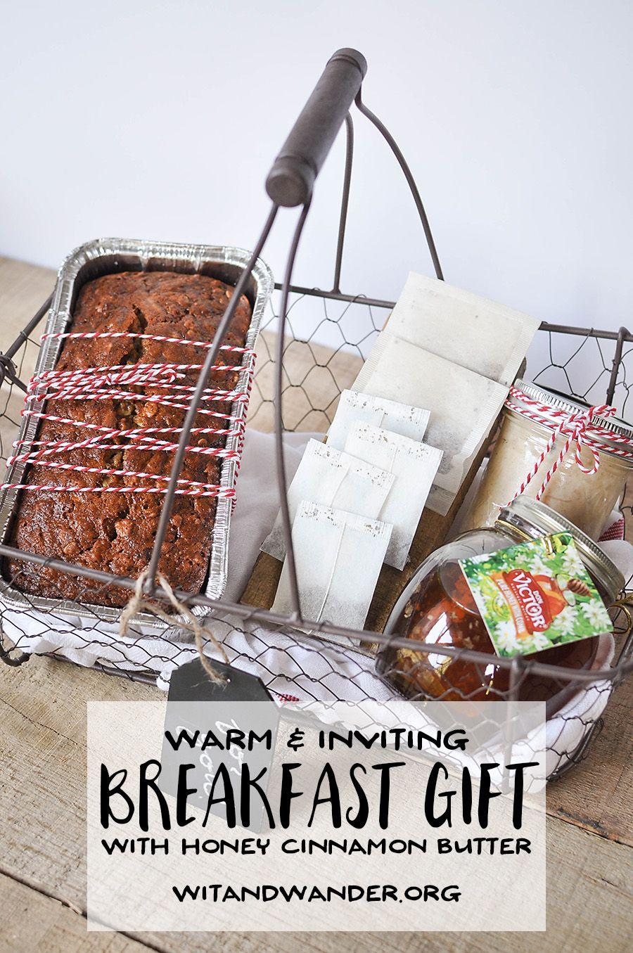 Warm Breakfast Basket Gift Idea Bread Gifts
