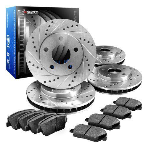 Rear eLine Drilled Slotted Brake Rotors /& Ceramic Brake Pad Expedition,Navigator