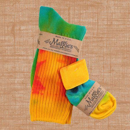Mom & Baby Tie Dye Sock Set by Maggie's Organics! Each sock