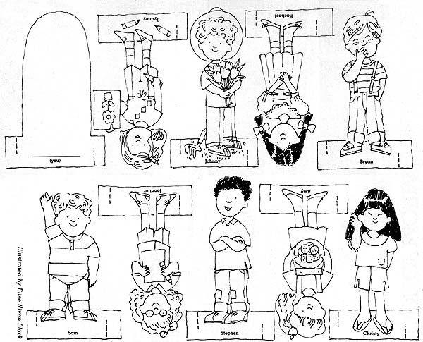 June 1989, page 12, I Have Talents, finger puppets of nine