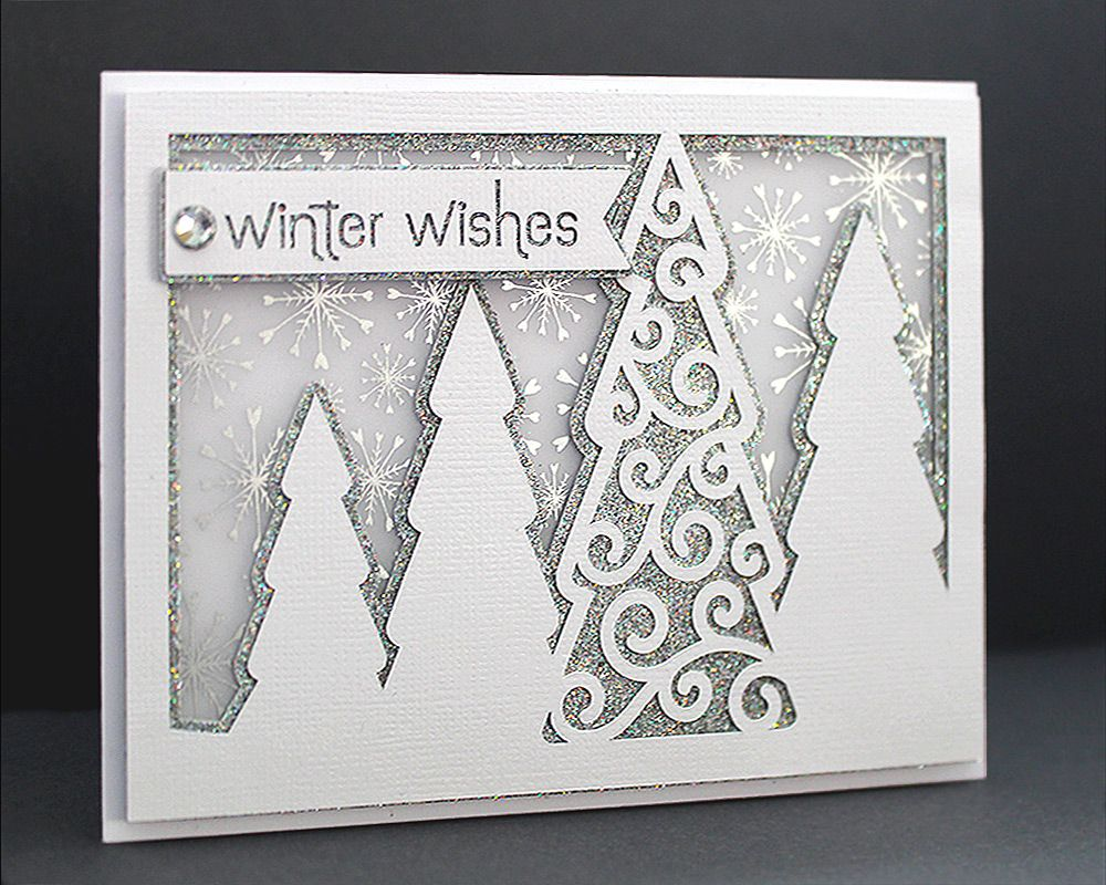 Winter Trees Card Cover 1/ have free file Bird cards