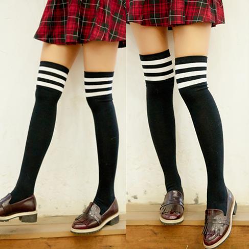 2f4cb40ae08 Fashion students stripe stockings SE5996 Use code