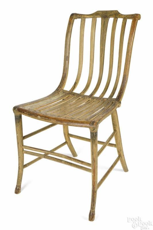 Boston Bentwood Side Chair By Samuel Gragg 1772 1855 With Goat