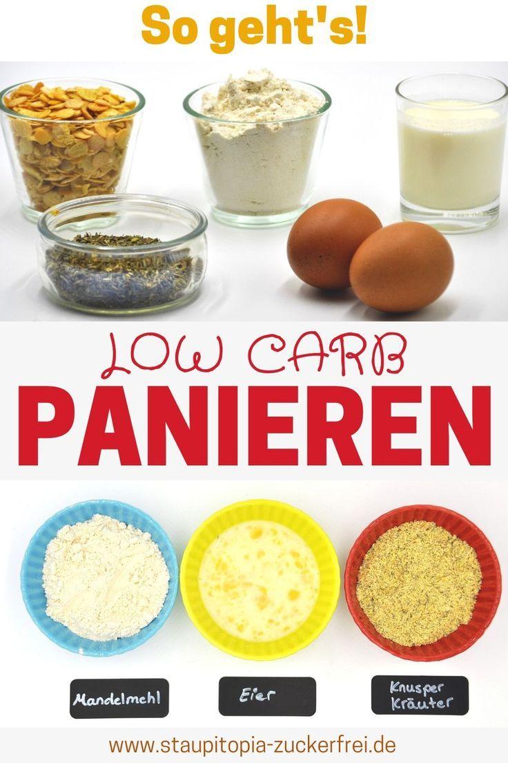 Low Carb Panieren: So gelingt dir die perfekte Panade ohne Kohlenhydrate - Staupitopia Zuckerfrei #lowcarbeating