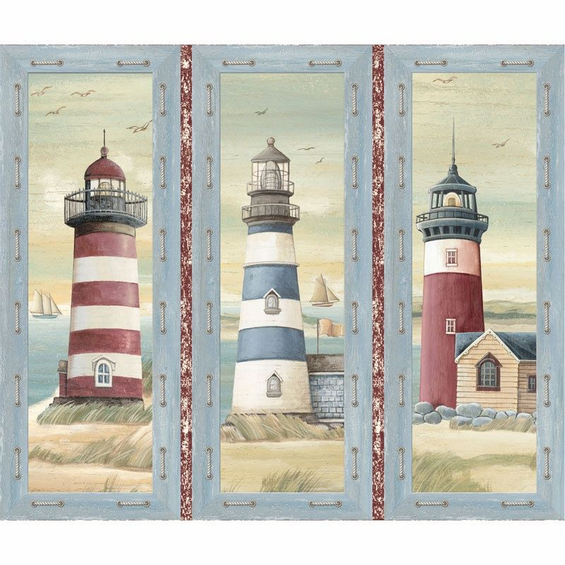 Quilting Treasures Seaside Ocean Beach Collage Patch 1 Yard Quilt Cotton Fabric