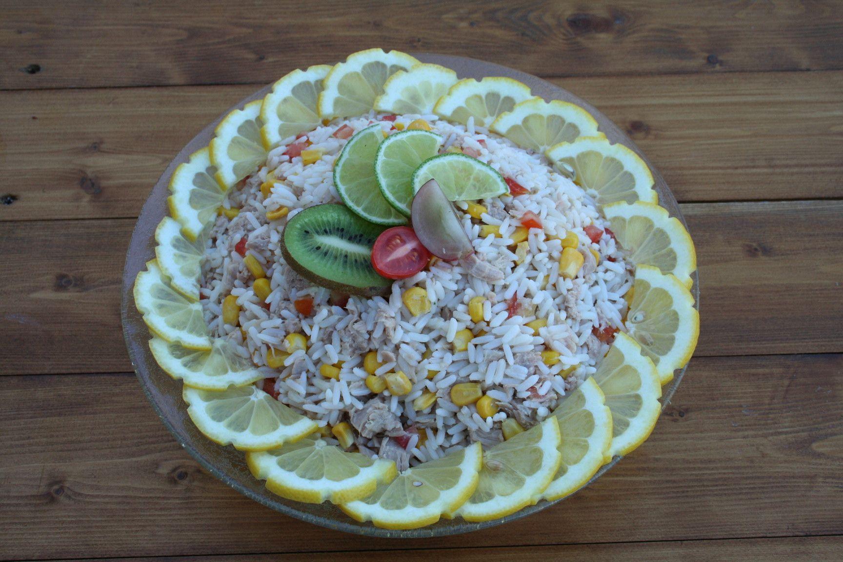 salade de riz thon maïs