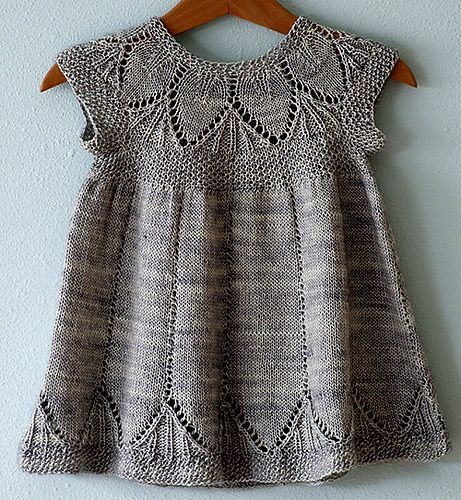Precious knitted baby dress Clara pattern by Karin
