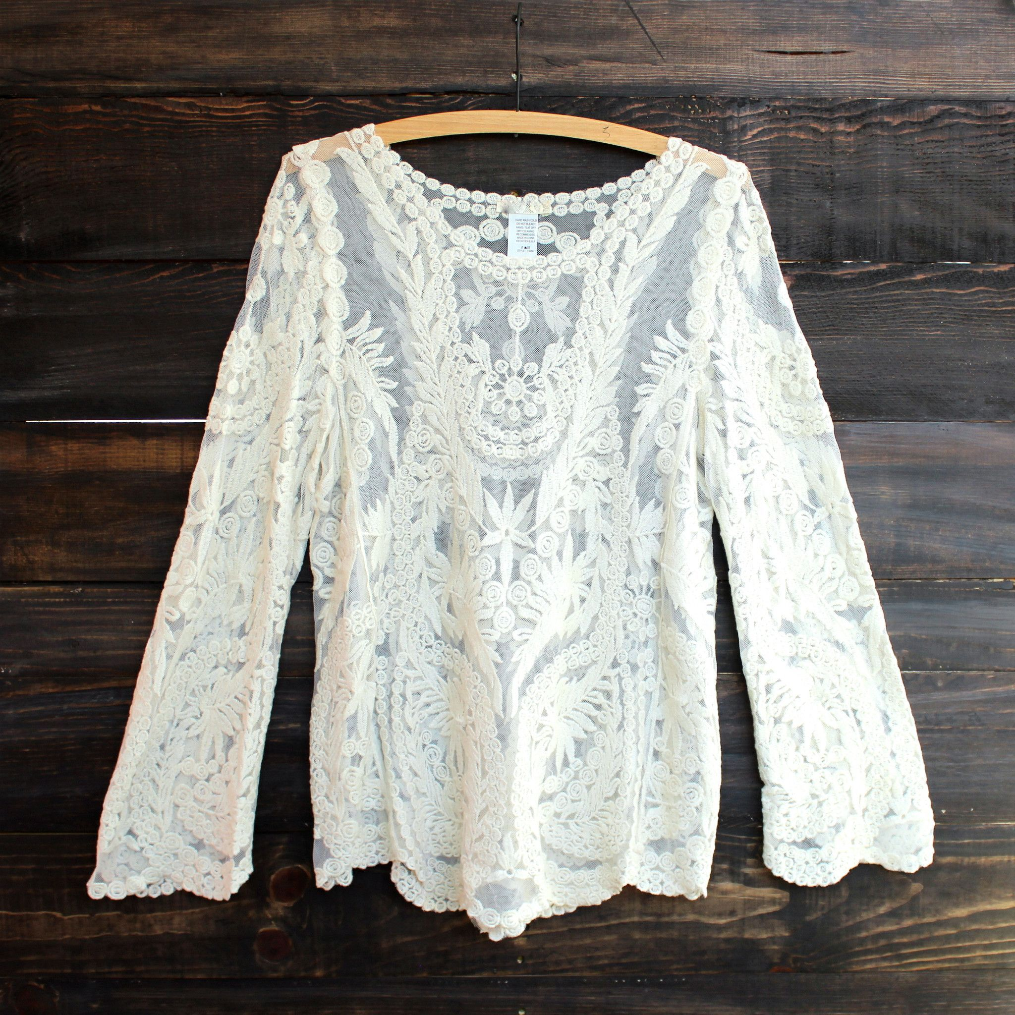 0212b09d018 vintage inspired victorian lace shirt bouse shirts top tops women s  wanderer gypsy bohemian tunic shirt tops boho chic hippie people hipster  free urban ...
