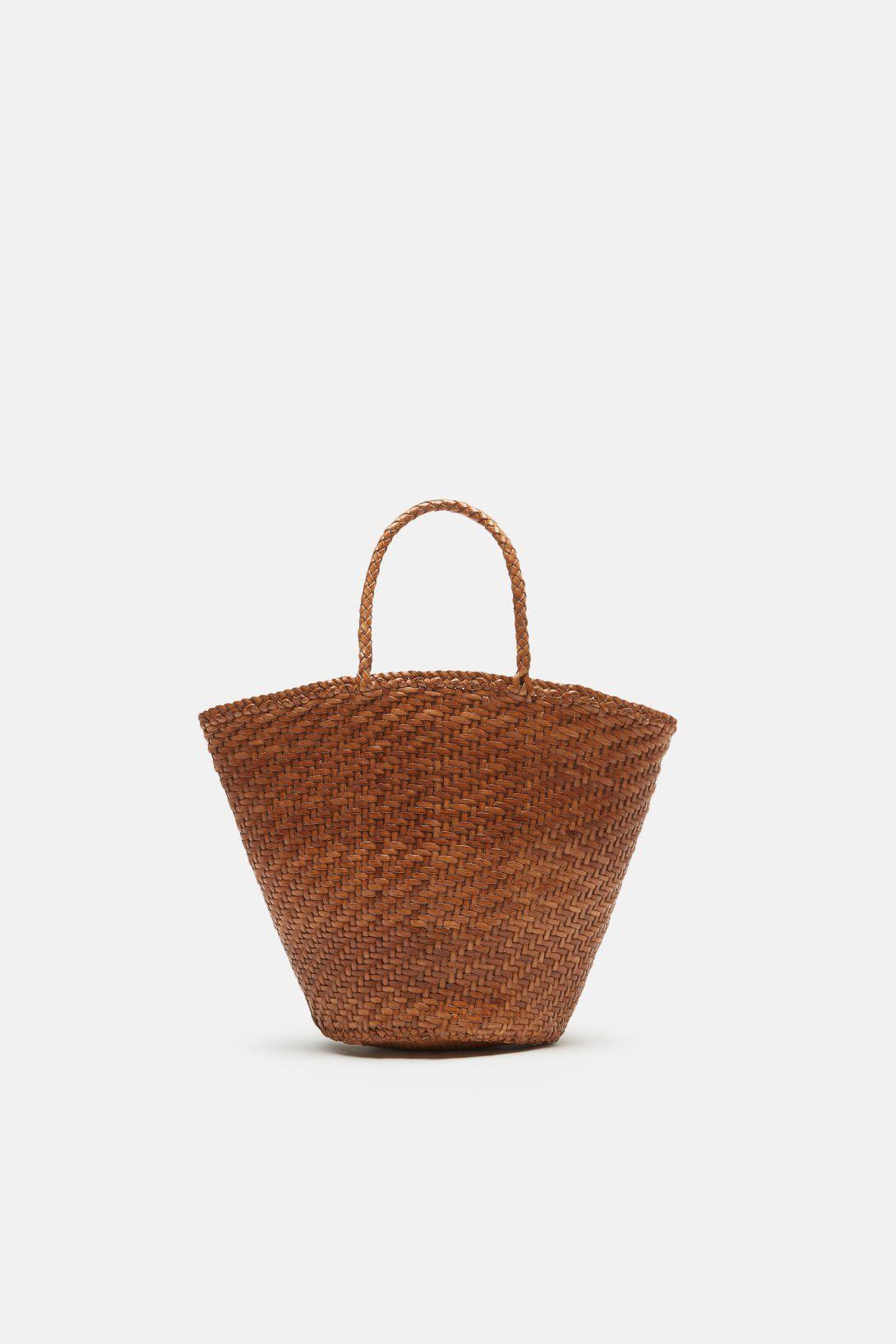 Myra Basket Bag Mini - Tan   Basket bag, Minis and Luxury sunglasses
