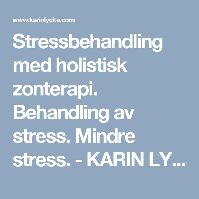 behandling av stress