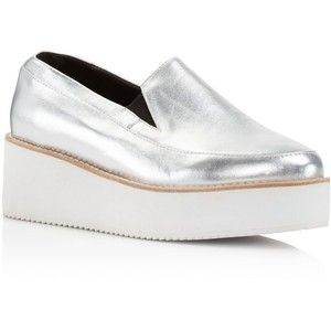 3e9328e3f85 Sol Sana Tabbie Metallic Leather Platform Wedge Loafers