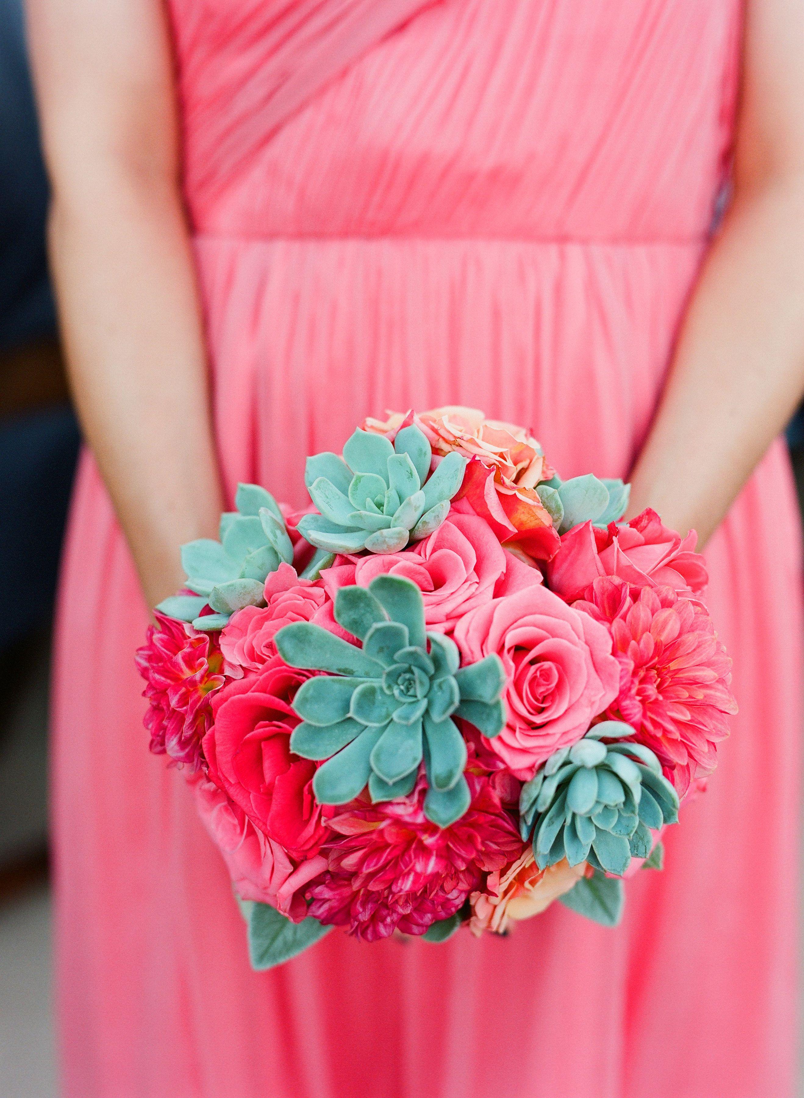 Bridesmaid bouquets.