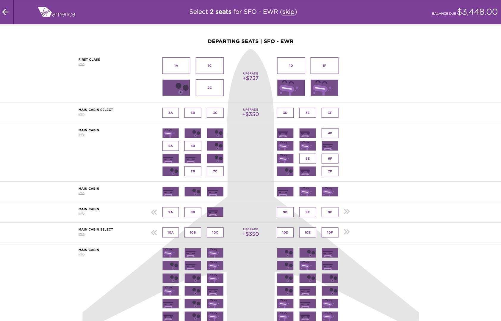 Virgin America's new booking system delights users | Webdesigner Depot