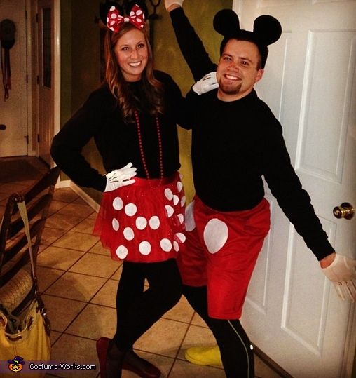 Mickey and Minnie Mouse Couple's Costume | Minnie mouse ...