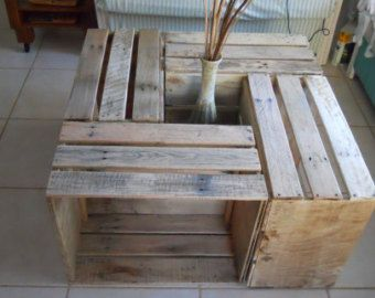 "Crate Coffee Table  ""R Cubes"" Pallet Furniture"