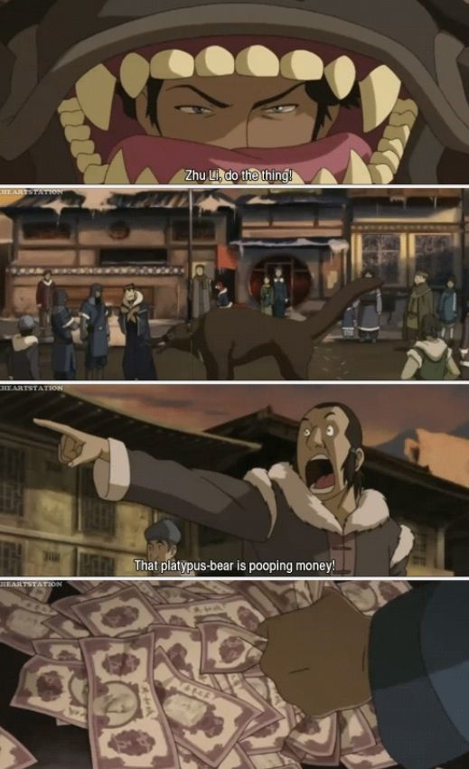 The Legend of Korra: MONEY POOPING BEAR!!!