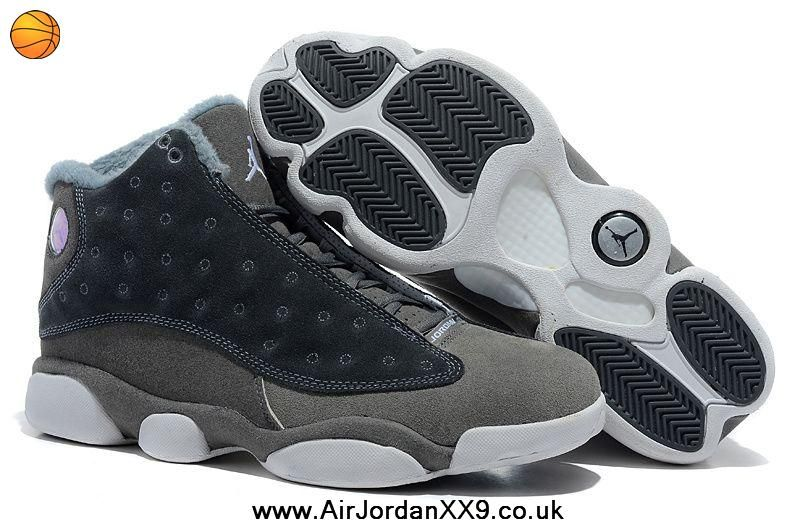 buy popular cf6b2 7735a New Inside with fluff Grey White Air Jordan 13 (XIII) Outlet