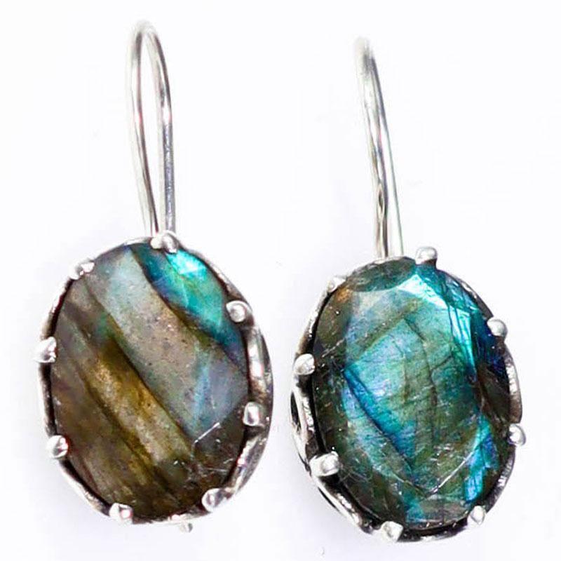 Teardrop Earrings Chakra Jewelry Gemstone Earrings Labradorite Jewelry Statement Earrings Healing Jewelry Labradorite Earrings