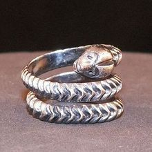 Vintage Mexican Taxco Signed Sterling Silver Snake Ring Size 6.5