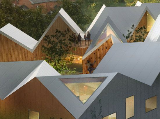 Nord Architects Healing Architecture Architecture Courtyard Architecture Roof Architecture