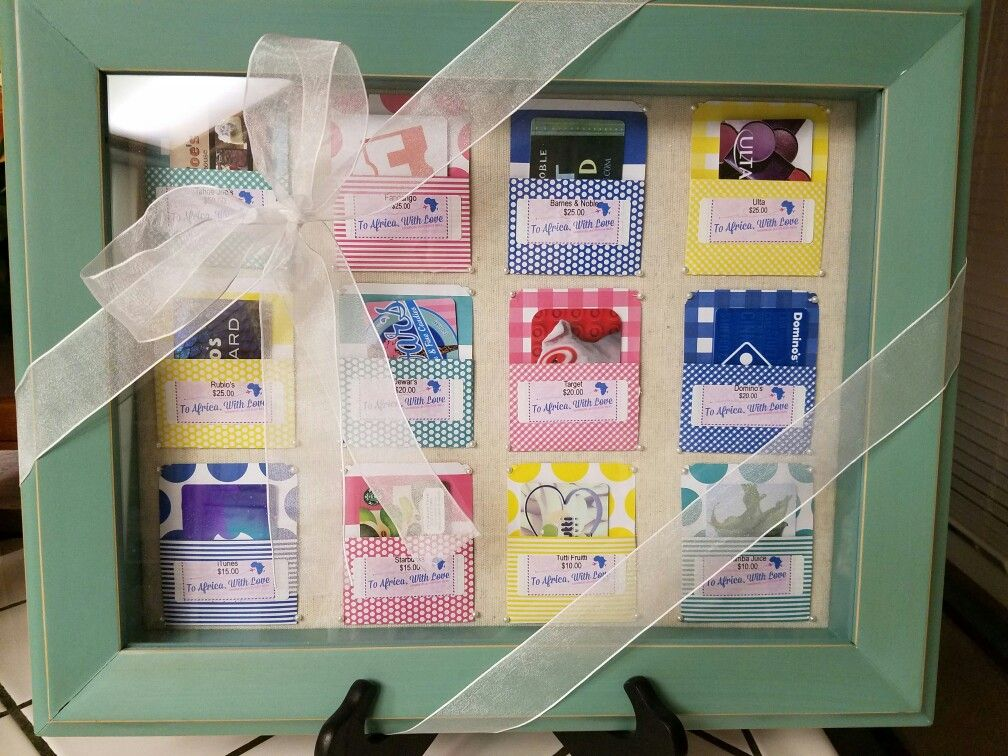 Shadow box gift card display/ Silent auction donation & 25+ unique Gift card basket ideas on Pinterest | Silent auction ... Aboutintivar.Com