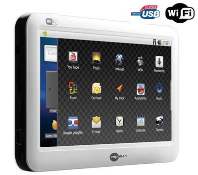 Das Tablet verfügt über WLAN und erleichtert die Kommunikation und das Surfen im Internet. Dank der Applikationen AppsLib, die im Download verfügbar sind, haben Sie mit dem MP434 Zugang zu zahlreichen Serviceleistungen wie Radio, Wettervorhersage und Spiele.