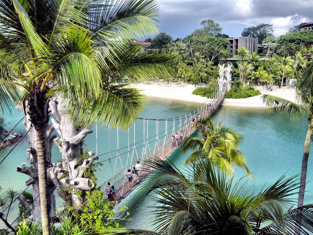 floating bridge at siloso beach singapore map tourist attractions in singapore