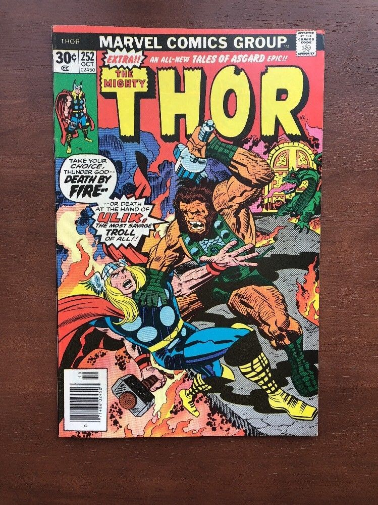 Thor 252 (1976) 8.0 VF Marvel Comic Key Issue High Grade