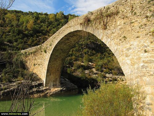 Puente de Pedruel, Sierra de Guara, Rodellar, Huesca.