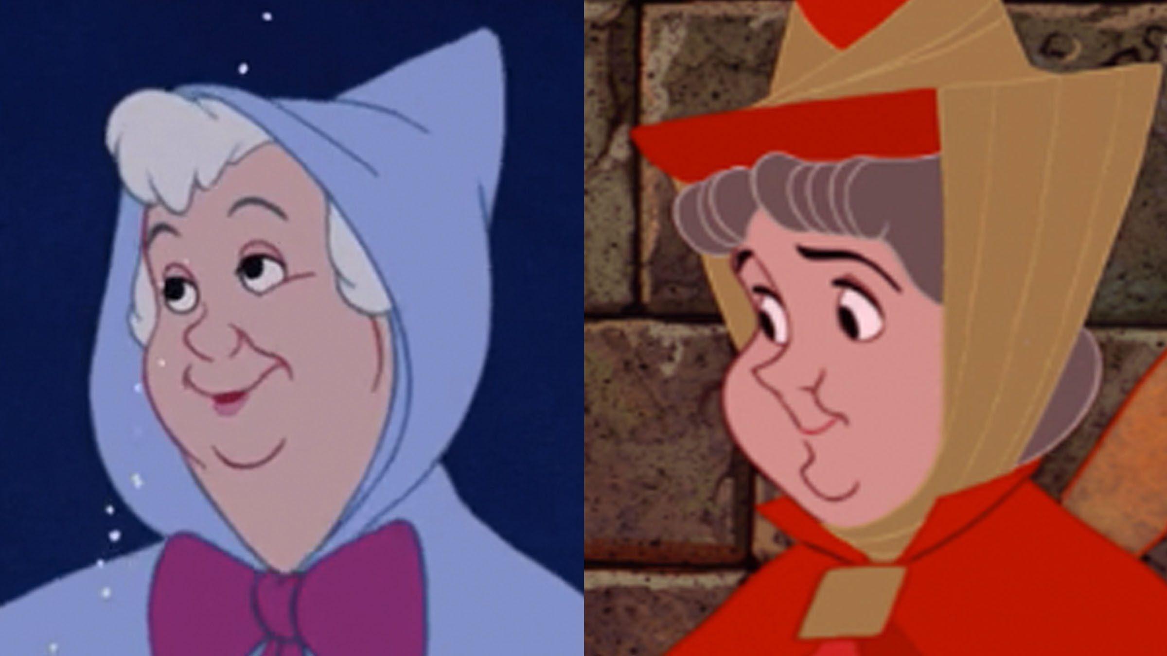 Disney Doppelgangers Fairy Godmother Flora Fairy Godmother