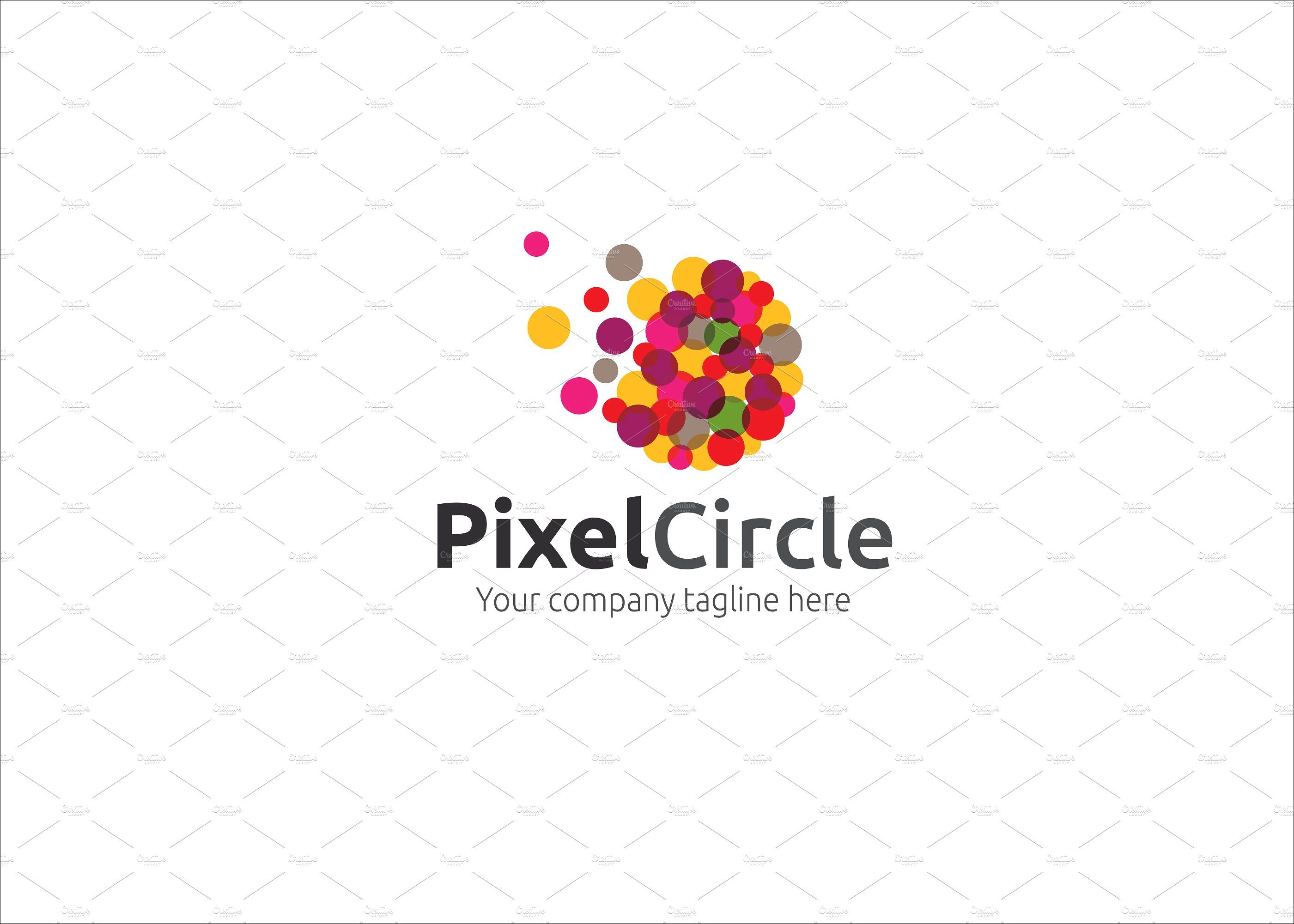 Pixel Circle Logo Circle logos, Pixel circle, Business