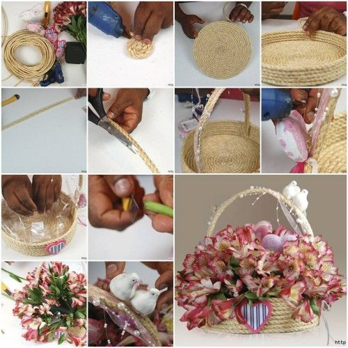 Do It Yourself Home Design: DIY Make A Special Rope Gift Basket