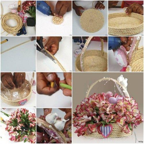 DIY Make a Special Rope Gift Basket | Creativity, DIY tutorial and ...
