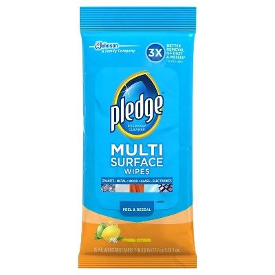 Pledge Multi Surface Wipes 25ct Surface wipes, Surface