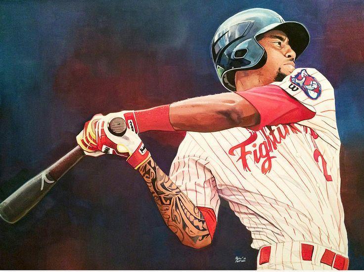 JP Crawford by Michael Pattison Baseball art, Sports art