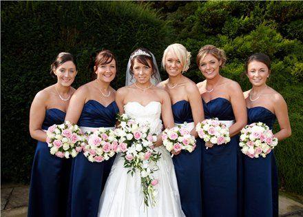 navy white dress... pink flowers   Amy's Amazing Wedding Ideas ...