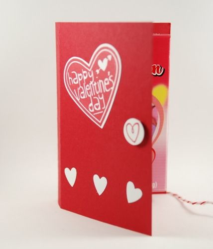 Happy Valentine S Day Conversation Hearts Handmade Card With Gift