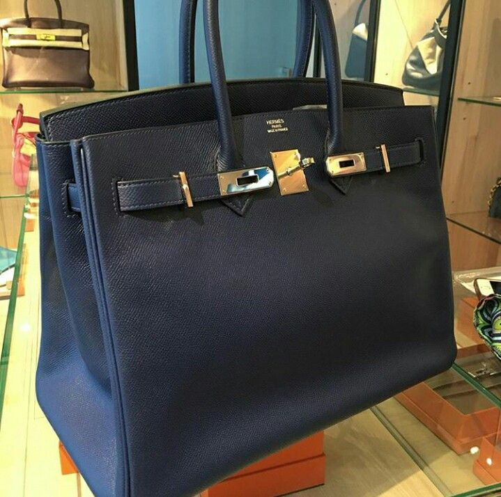 2005f3ee172d Model  Hermes Birkin 35 Stamp  X Condition  Almost New Color  Blue Sapphire