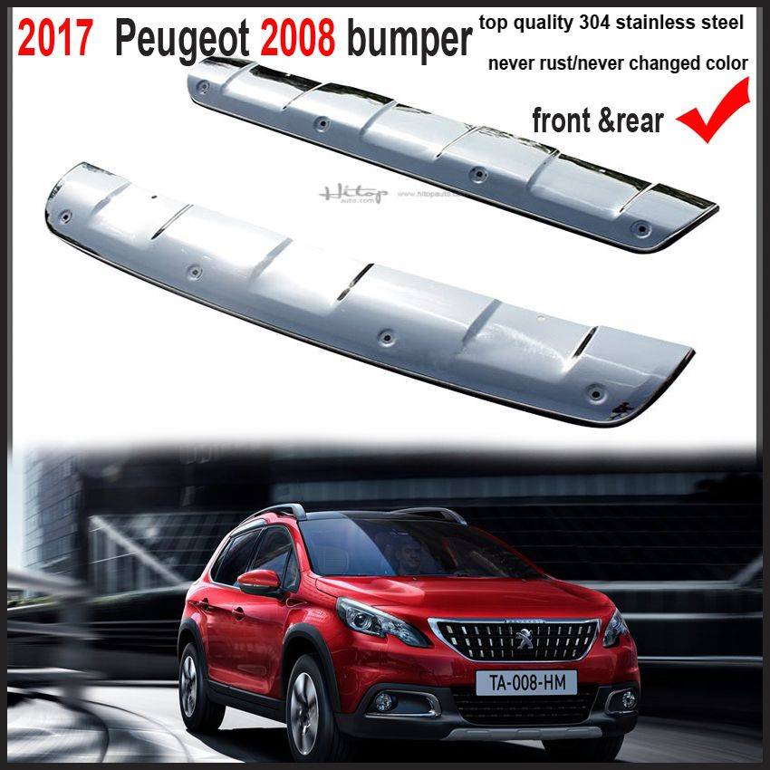 2017 front rear bumper cover rear trunk sill for peugeot 2008 promotion 304 stainless. Black Bedroom Furniture Sets. Home Design Ideas
