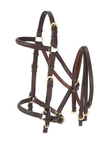 Tough 1 Australian Outrider Collection Leather Bridle//Halter