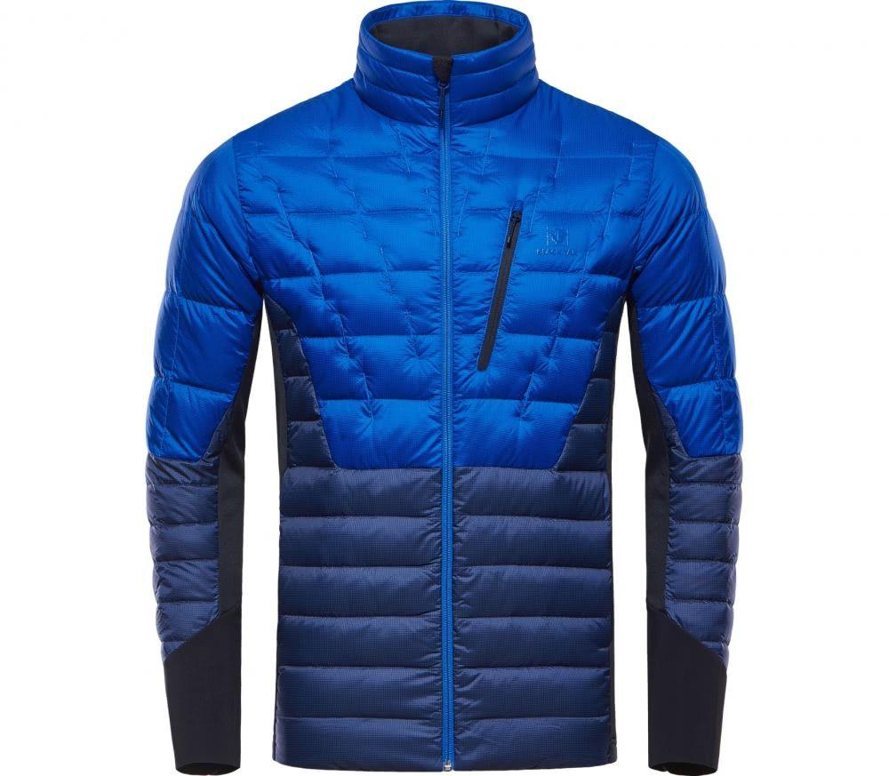 Black yak light down insulation jacket heren donsjack blauwzwart